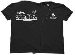 Living The Scrub Life White Ink T-shirt