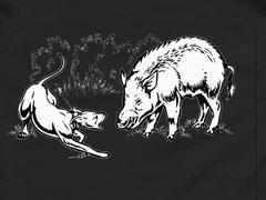 Single Dog Bayed Up Southern Houndsman T-Shirt