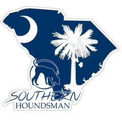 "8"" South Carolina Flag Southern Houndsman Logo Sticker"