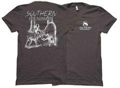 Catch Dog Bayed Up Hog White Hunting T-Shirt