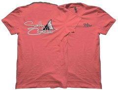 Salty Cracker Tailing Red Logo Fishing T-Shirt