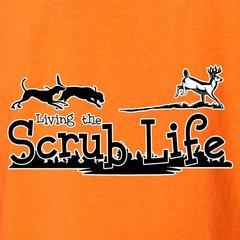 Scrub Life Dog Chasing Whitetail Deer Hunting T-Shirt