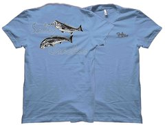 Salty Cracker Schooling Redfish Fishing T-Shirt