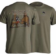 Catch Dog Bayed up Hog Hunting T-Shirt