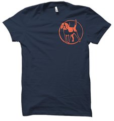Southern Houndsman Orange Ink Beagle Hound Hunting T-Shirt