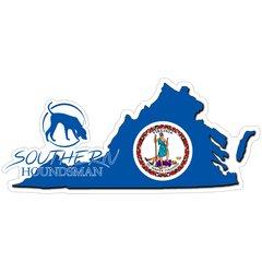 "8"" Virginia Flag Southern Houndsman Logo Sticker"