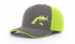 Salty Cracker Charcoal/Neon Yellow Snook Flexfit Cap