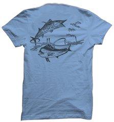 Salty Cracker Wahoo Mahi Saltwater Fishing T-Shirt
