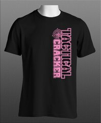 Tactical Cracker Black and Pink Logo T-Shirt