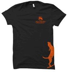 Side Orange Ink Treeing Hound Hunting T-Shirt