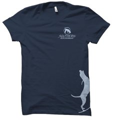 Side Light Blue Treeing Hound Hunting T-Shirt