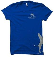 Side Grey Treeing Hound Hunting T-Shirt