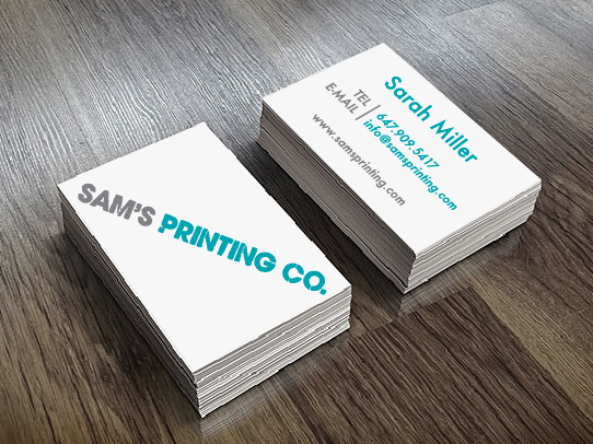 Business cards sams printing company toronto custom business business cards full colour 35 x 2 inches free custom artwork included reheart Choice Image