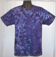 Purple and Black Marble Adult T-Shirt