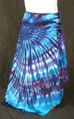Purple and Blue Spiral Lotus Skirt