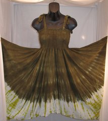 Moss Green Shibori Festival Dress/Skirt