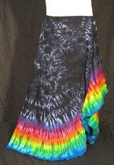 Rainbow Edged Black Marble Lotus Skirt