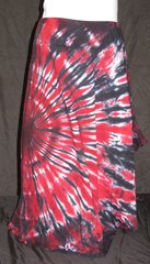 Red and Black Sunburst Lotus Skirt