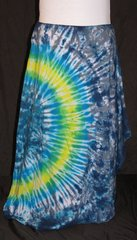 Blue and Yellow Swish Grey and Blue Marble Lotus Skirt