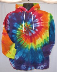 Rainbow Spiral Adult Hooded Sweatshirt