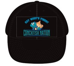 BLACK Cap with Conchfish Nation logo