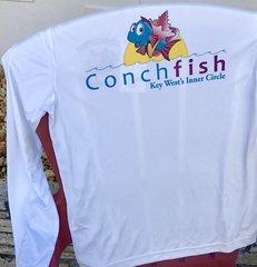 Men's White Conchfish Fishing Shirt