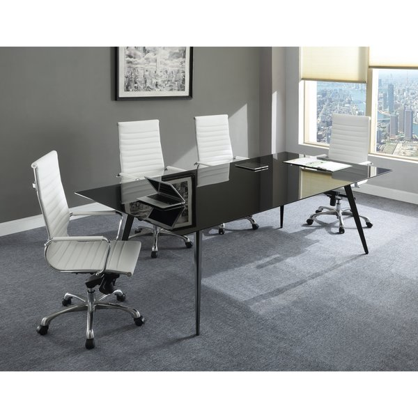 Black Glass Tables black glass conference table, oklahoma city office furniture | okc