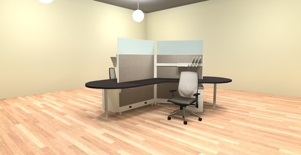 120 degree 3 person cubicles