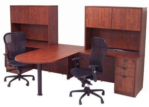 Person Workstation Desk Oklahoma City Office Furniture OKC - T shaped desk with hutch