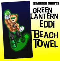 Green Lantern Eddi Bear Beach Towel