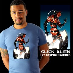 Slick Alien tee by Stephen Sadowski