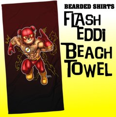 Flash Eddi Bear Beach Towel