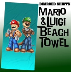 Mario & Luigi Beach Towel