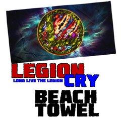 LEGION CRY LOGO Beach Towel
