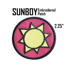 Sun Boy Embroidered Patch
