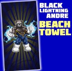 BLACK LIGHTNING ANDRE Beach Towel
