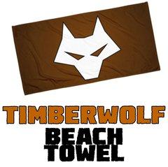 TIMBER WOLF Beach Towel