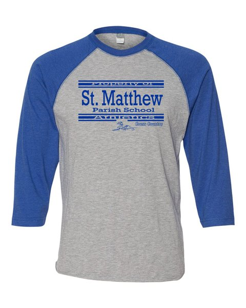 Mens LAT #6930 Raglan Sleeve (Heather/Royal) Baseball T-Shirt