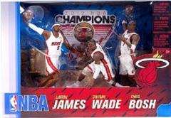 McFarlane NBA 3-Pack Miami Heat 2012 Champions James Wade Bosh