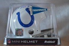 Hidden Treasures Autographed Mini Helmet Art Donovan Colts