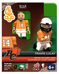 OYO CFL Series 1 Travis Lulay B.C. Lions Minifigure