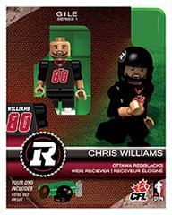 OYO CFL Series 1 Chris Williams Ottawa Redblacks Minifigure