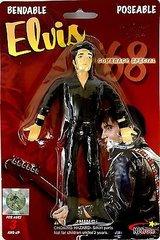 "NJ Croce - Elvis Presley- Elvis '68 Comeback Special-Bendable & Poseable 6"" figure"