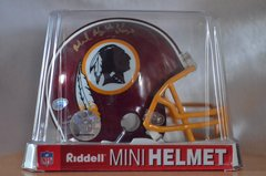 Hidden Treasures Autographed Mini Helmet Mark May Redskins