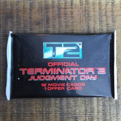 1991 T2 TERMINATOR 2 JUDGMENT DAY TRADING CARD PACK, 12 CARDS EACH PACK