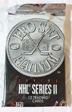 1991-92 Pro Set Platinum NHL Series II trading cards