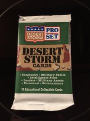 1991 Desert Storm Pro Set Card Packs; 10 Collectible cards per pack