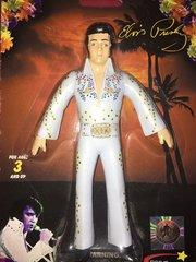 "NJ Croce - Elvis Presley- Elvis White Suit -Bendable & Poseable 6"" figure"