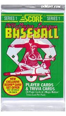 Score 1991 Major League Baseball Series 1 trading cards