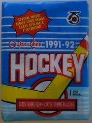1991-92 O-Pee-Chee Hockey Card Pack